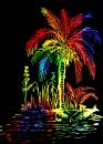 scratch color palm tree $10