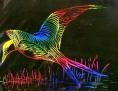 scratch bird flying $10