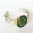 Bracelet Cuff Green & Golds