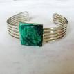 Bracelet Cuff Green Abstract