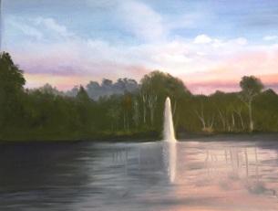 Central Park, Ormond Beach Florida (Oil on Canvas) $300