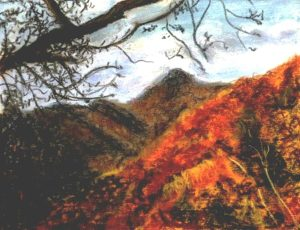 Fall on Blue Ridge Parkway (Pastel) (12x15) $125