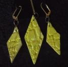 Earrings & Penant Bright Yellow Diamond Shape Esty