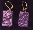 Earrings Clay Abstract Purple