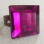 Ring Hot Pink Square