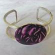 Bracelet Cuff Burgundy Swirls 1