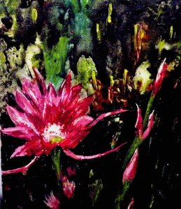 Family of Flowers (Encaustic (144 E))
