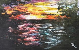 Ship in the Night (Acrylic 8.5x11)$85