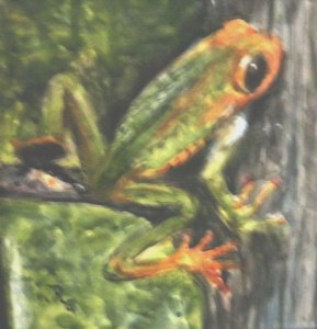 Tree Frog (Watercolor) $45