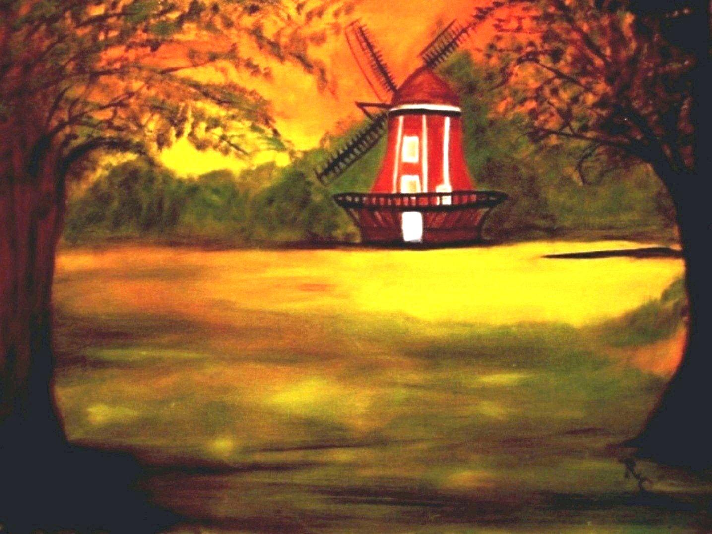 Denmark Windmill (Oil f 18x22) $250
