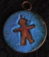 Enamel Copper Round with Boy 8