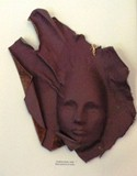 Leather Sculpture Eggplant (Sold)