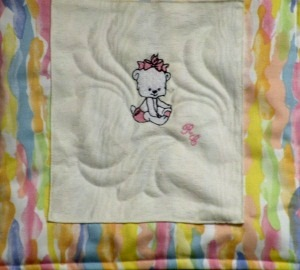 Wall Hanging Teddy Baby