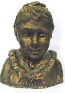 Sculpture Bronze Lady