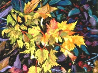 Blue Ridge Fall Leaves I(Pastel)