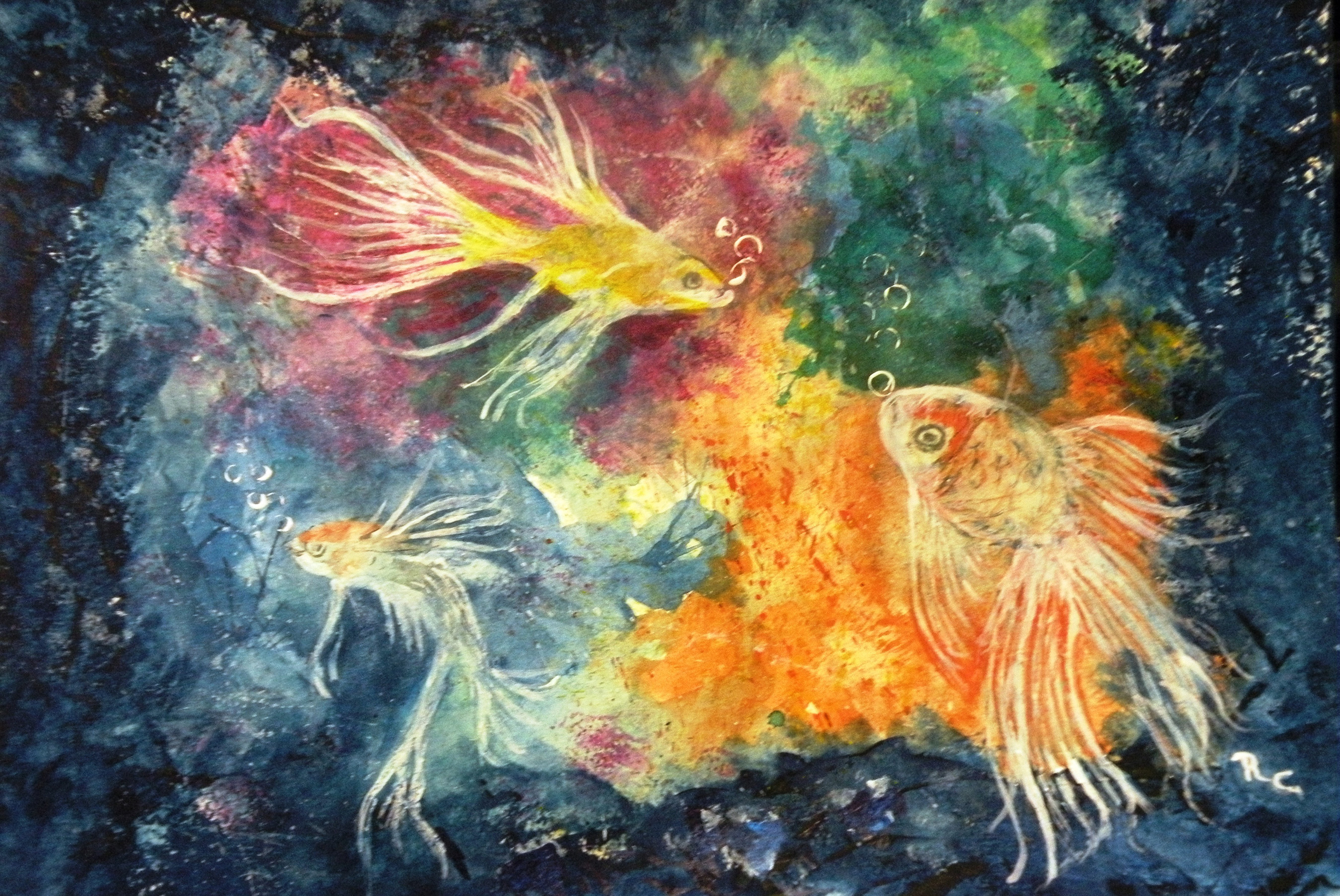 Swimming Among the Coral Reef (Watercolor) $375