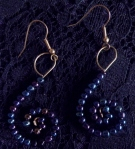 Earrings Blues & Plums