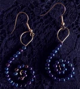 Earrings Blues & Plums