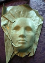 Leather Sculpture Pale Green