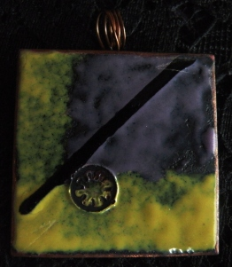 Enamel Copper Pendant Square 8