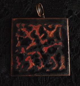 Enamel Copper Necklace 1