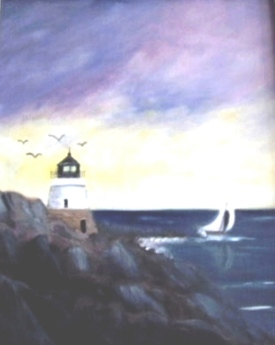 Castle Hill Lighthouse,Newport RI (Oil)) $250