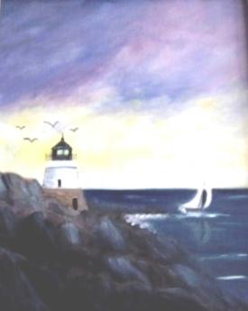 Castle Hill Lighthouse,Newport RI (Oil)) $250