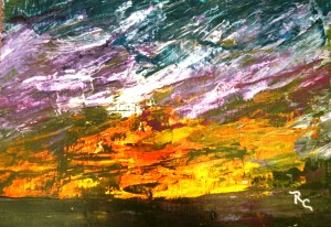 Sunset (Acrylic 8.5x11) $75