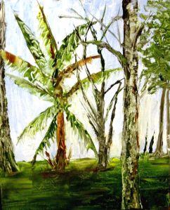 Banana Trees in Naples(Oil KP) $100
