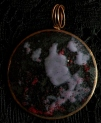 Enamel Copper Round with Lavendar & Red 6