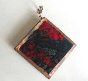 Enamel Copper with Red Grey & Black