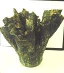 Raku Vase Large